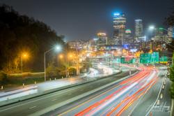 Pittsburgh I-279 Overpass Skyline