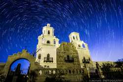 Mission San Xavier Star Trails
