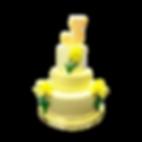 gâteau 3d jaune event