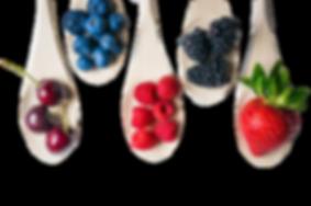 cuillère et fruits