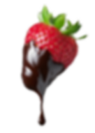 Fraise au chocolat