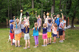 children drumming at Spirit Camp