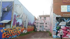 Walk the Walls mural at Caringbah
