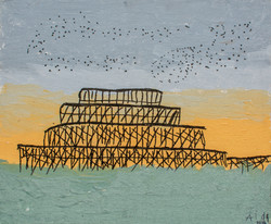 West Pier and Starlings