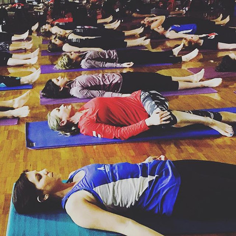 Taught a great yoga class for #TexFit th