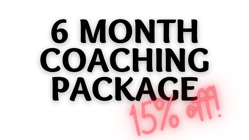 Six (6) Month Lifecoaching Package