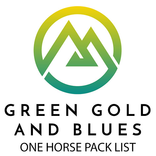 One Horse Pack List
