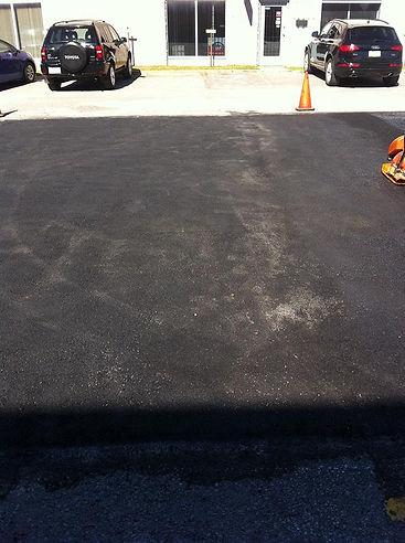 réparation d'asphalte du stationnement