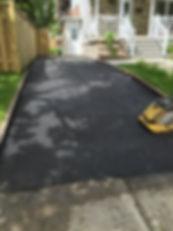 Pavage d'asphalte completé
