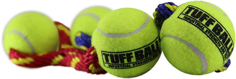 """Tug Max 9"""" Rope w Two 2.5"""" Tuff Balls"""