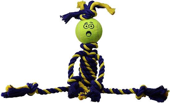 "Mini Braided Rasta Man 9"" Rope w/ 1.5"" Tuff Ball"