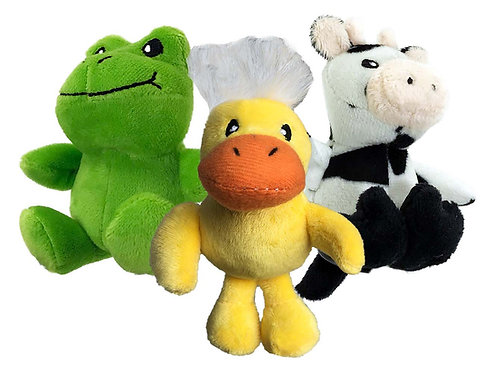 Tiny Tots Nuzzle Buddies - Frog, Duck & Cow
