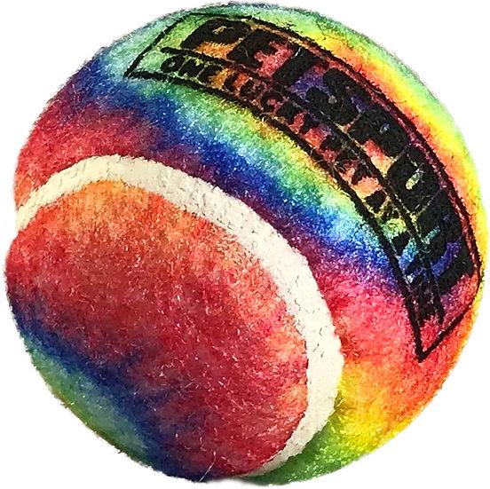 """Tie Dye Squeak Ball 1.8"""" 3-Pack"""