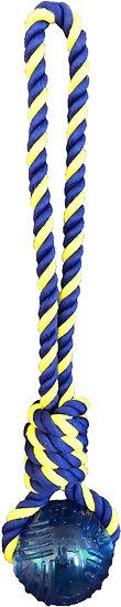 "Medium Braided Knot Tug 14"" Rope w/ 2.5"" TPR Ball"
