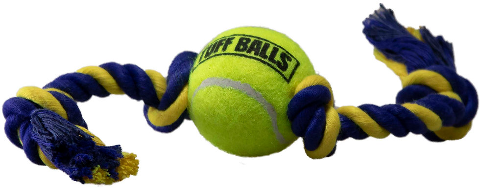 "Mini Tuff Ball Tug 9"" Rope with 1.5"" Tuff Ball"