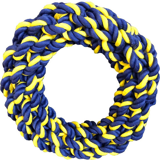 "Medium Braided Rope 7"" Ring"