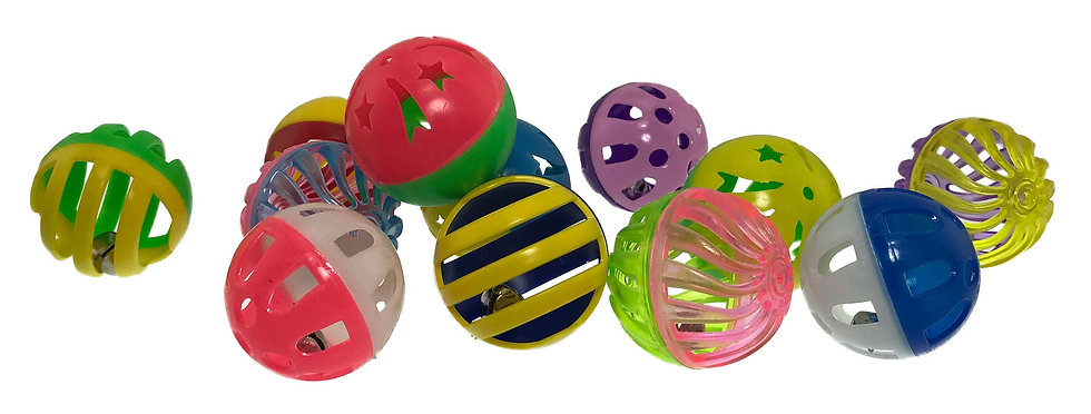 Kitty Jingle Balls 4-Pack Assorted