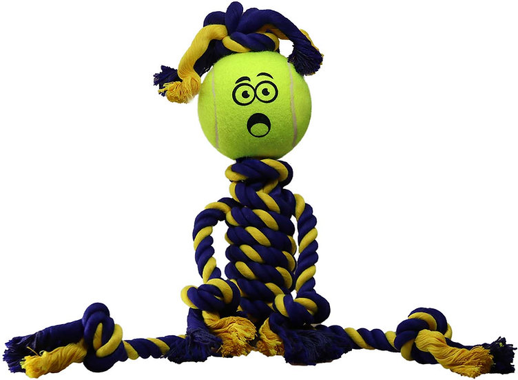 "Braided Rasta Man 18"" Rope w 2.5"" Tuff Ball"