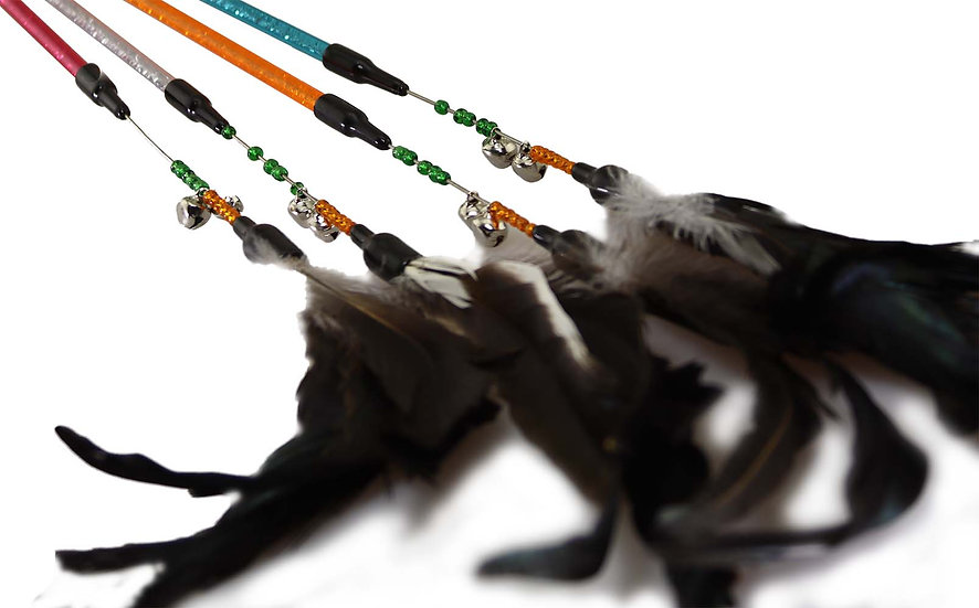 Kitty Feather Wand Assorted