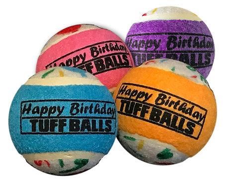 "Jr. Happy Birthday Tuff Ball 1.8"" 4-pack"