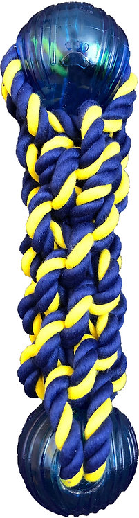 """Braided Knot Bumper 9.5"""" Rope w/ Two 2.5"""" TPR Balls"""