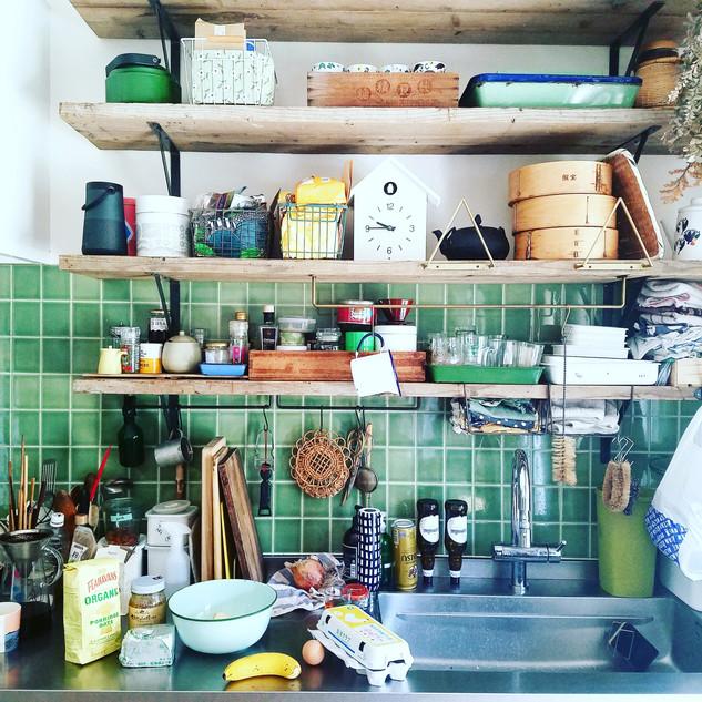お気に入りのキッチンのタイル