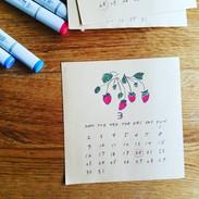 毎年手作りのカレンダーを作成