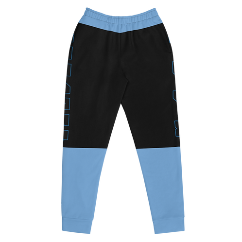 M.A.C.J Apparel Women's Joggers Black/Baby Blue