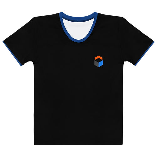 M.A.C.J Apparel Women's T-shirt Black/Blue