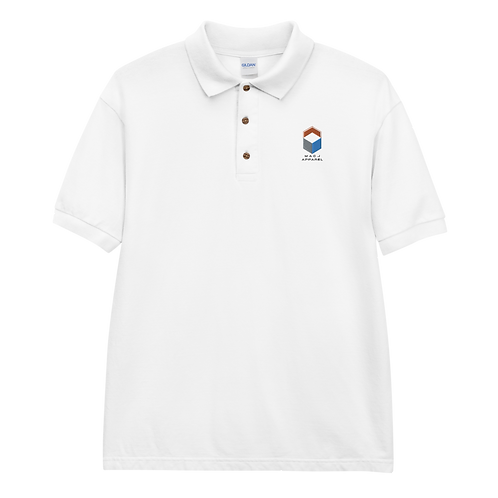 M.A.C.J Apparel Embroidered Polo Shirt (White)