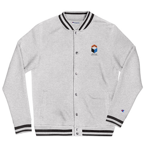 M.A.C.J Apparel Embroidered Champion Bomber Jacket (Oxford Grey)