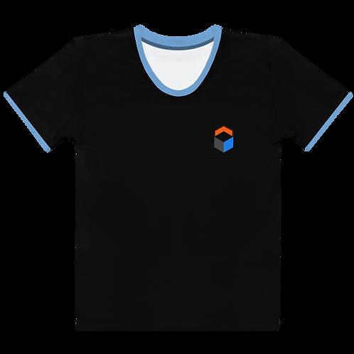 M.A.C.J Apparel Women's T-shirt Black/Baby Blue