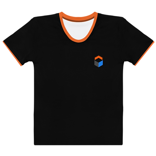 M.A.C.J Apparel Women's T-shirt Black/Orange