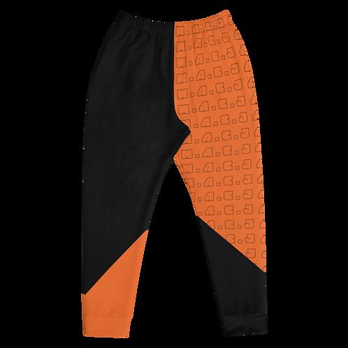 M.A.C.J Apparel Men's Joggers Orange/Black