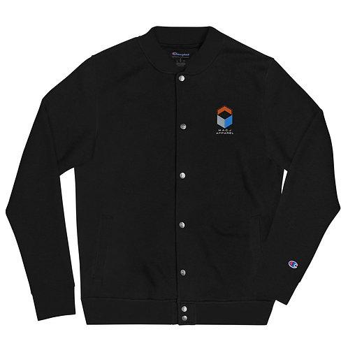 M.A.C.J Apparel Embroidered Champion Bomber Jacket (Black)