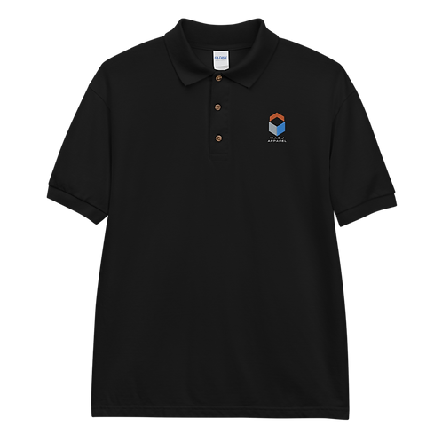 M.A.C.J Apparel Embroidered Polo Shirt (Black, Royal)