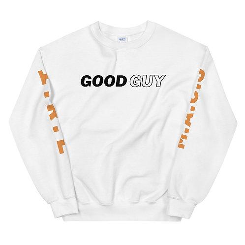 """Good Guy"" White Unisex Sweatshirt"