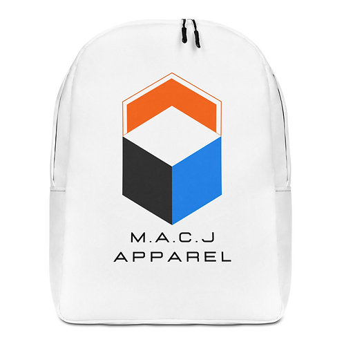 M.A.C.J Apparel Minimalist Backpack (All White)