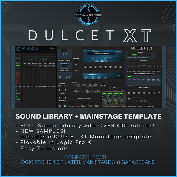 DULCET XT Sound Library + Mainstage Tempate