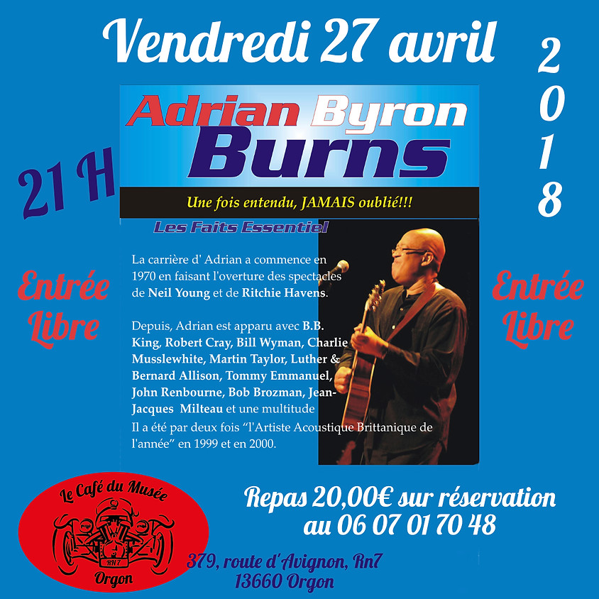 Concert Adrian Byron Burns