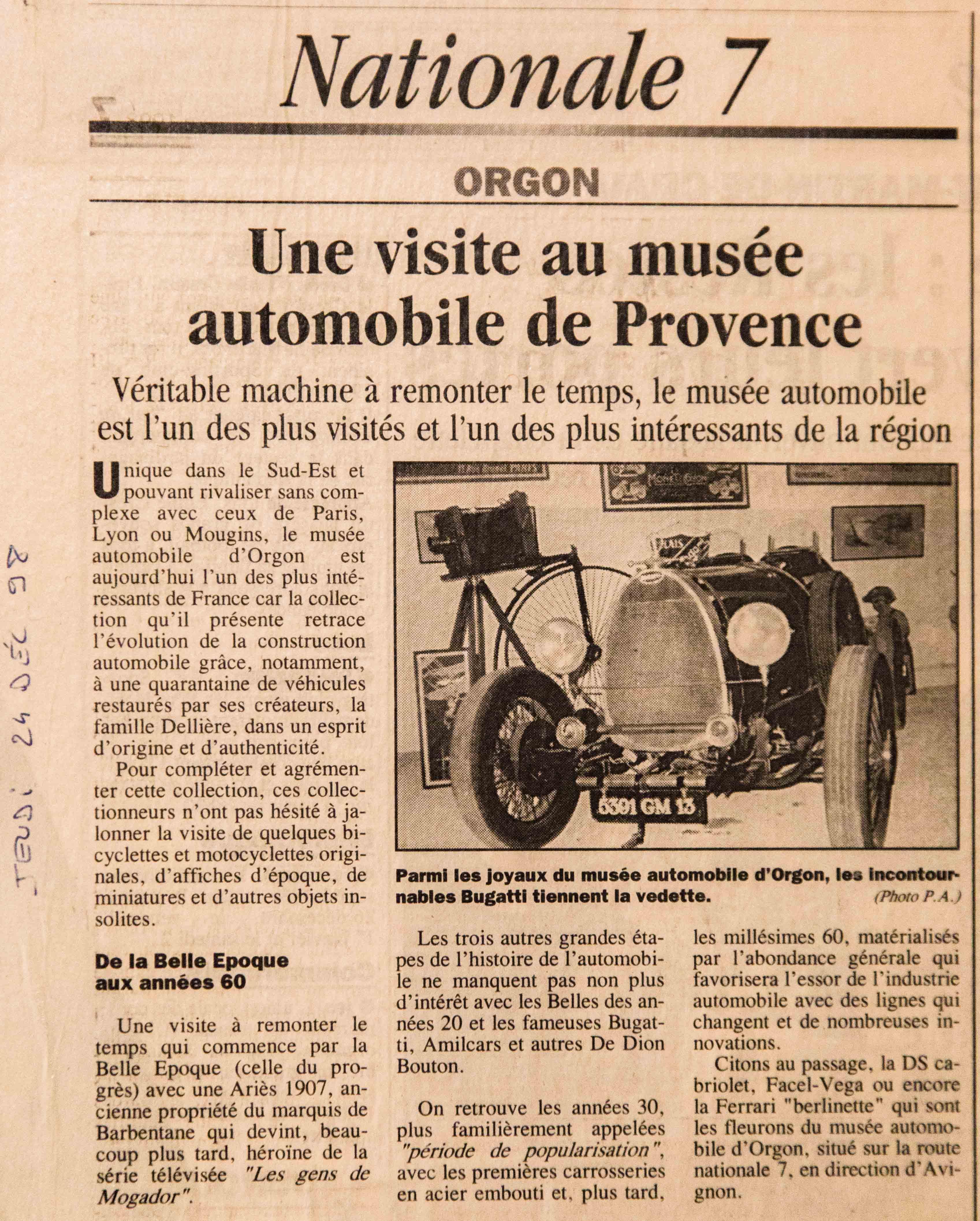 1998 - Musée Automobile de Provence