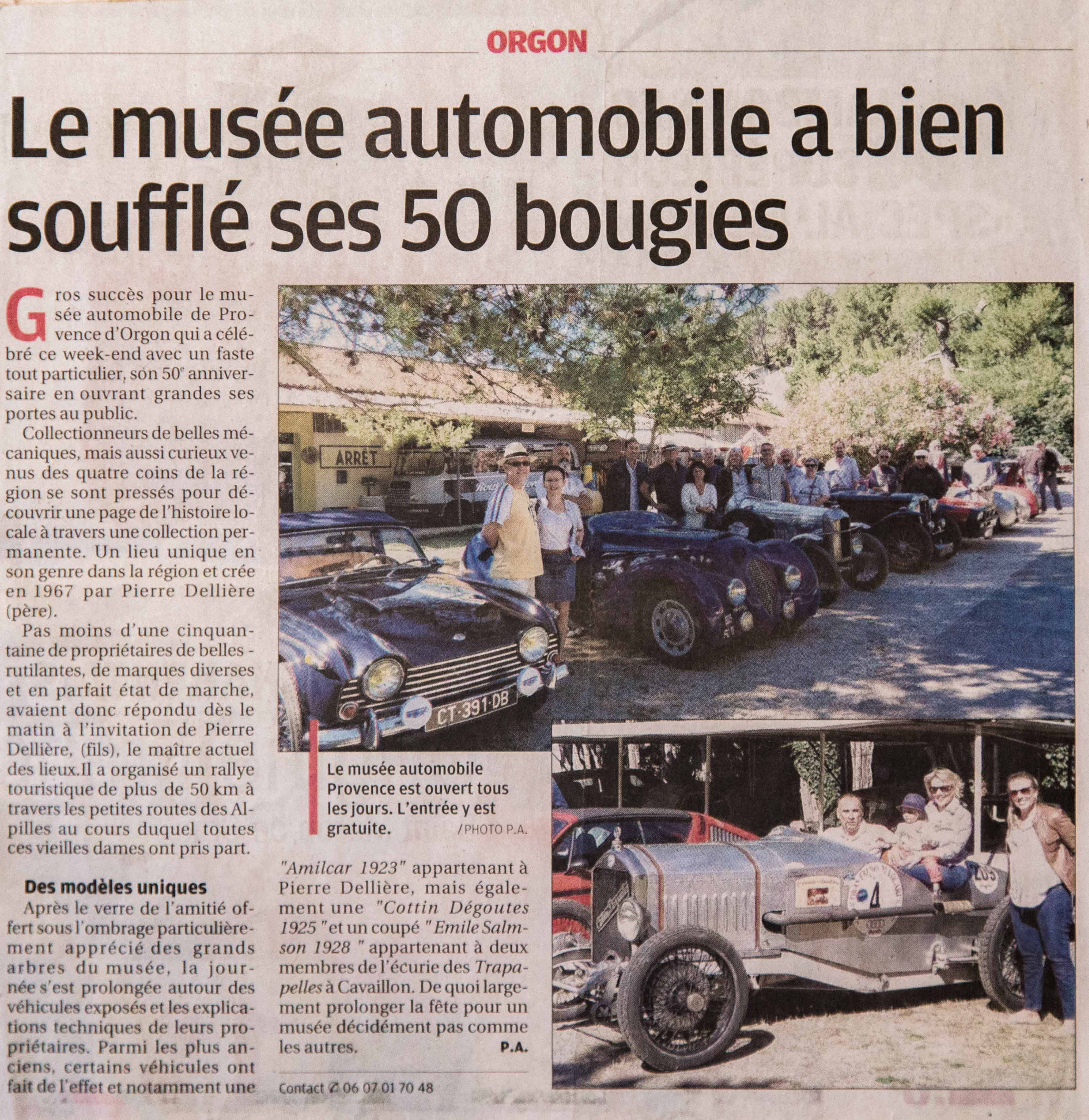 2017 - Musée Automobile de Provence