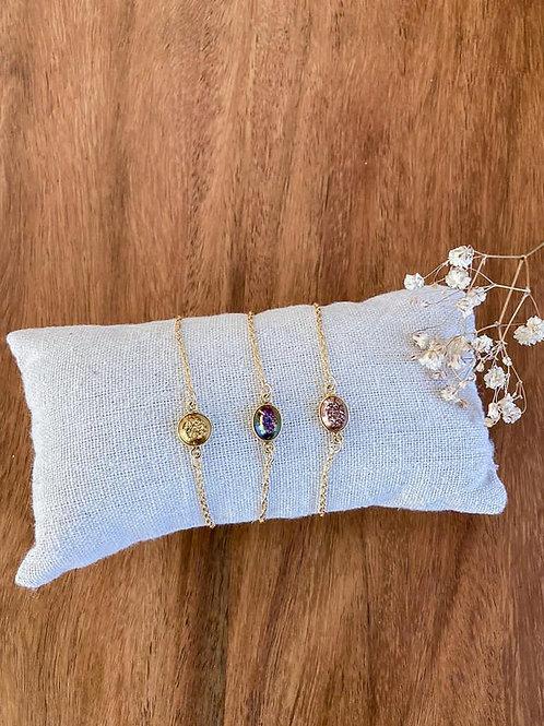 Bracelet Yukon violet/bleu ovale