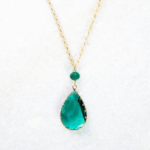 Collier Aria vert