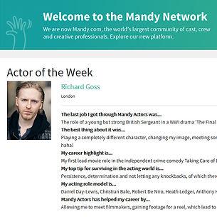 Richard Goss Actor Mandy.com