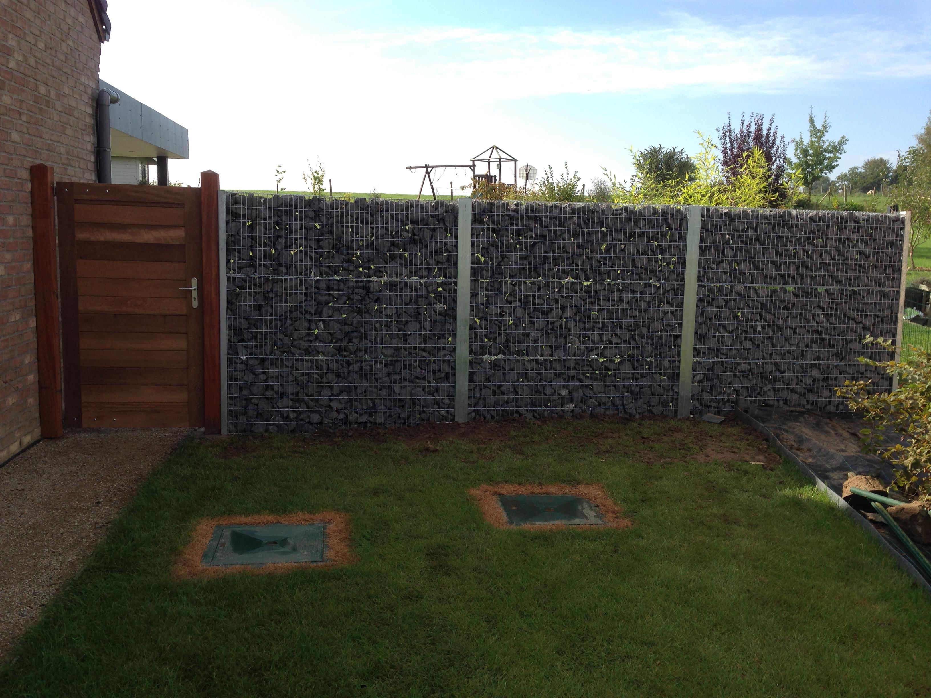 Mur gabions