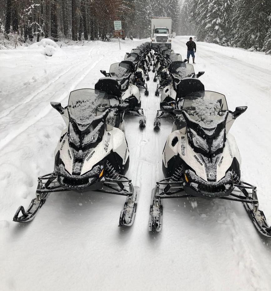 Ski-doo Aces! Quiet and comfortabe.