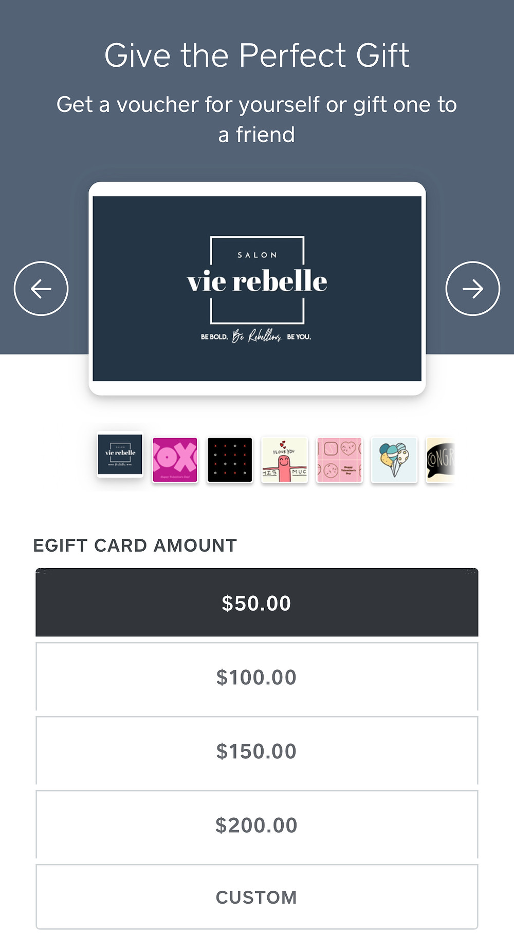 SVR's electronic gift cards are fast and easy to load!