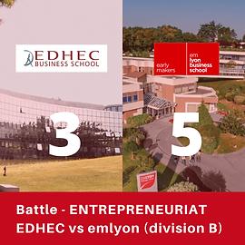Battle entrepreneuriat emlyon EDHEC