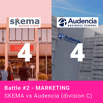 Battle Marketing - SKEMA vs Audencia